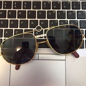 Vintage Cartier Santos Vendome Sunglasses